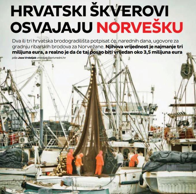 Hrvatski škverovi osvajaju norvešku